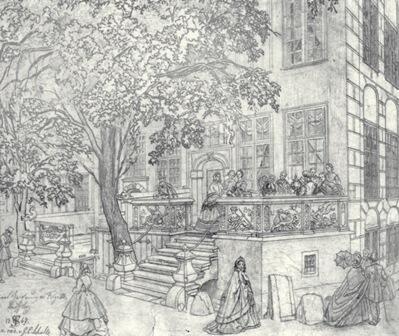 Kamienica przy ul. Piwnej, fragment ryciny J. C. Schultza