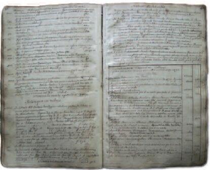 Na tych stronach tzw. księgi rezygnacji zapisano, jakie były zasoby jezuickiej spiżarni w Starych Szkotach, 1749