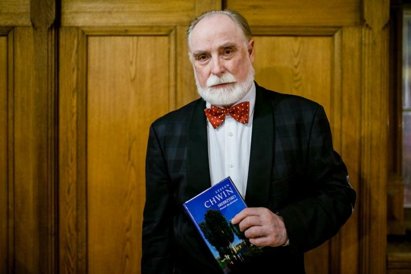Stefan Chwin podczas premiery swojej najnowszej książki Srebrzysko, w Ratuszu Staromiejskim