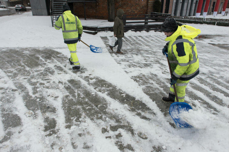 Targ Rybny - Usuwanie skutków śnieżycy