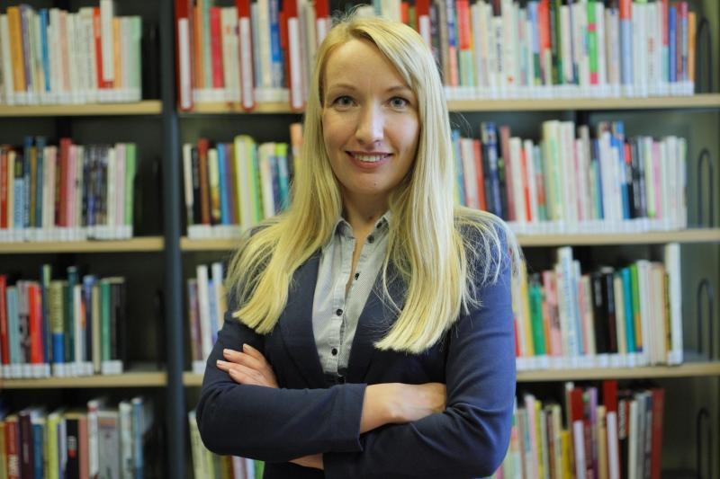 Magdalena Kruszyńska - kierownik Biblioteki Manhattan