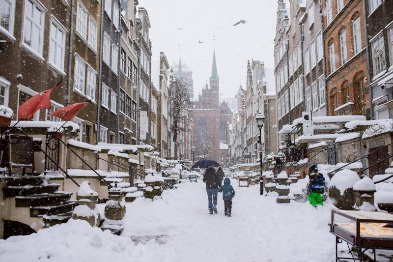 Ulica Mariacka to fotograficzny gdański pewniak - zawsze jest piękna, a szczególnie ze śniegową pierzynką