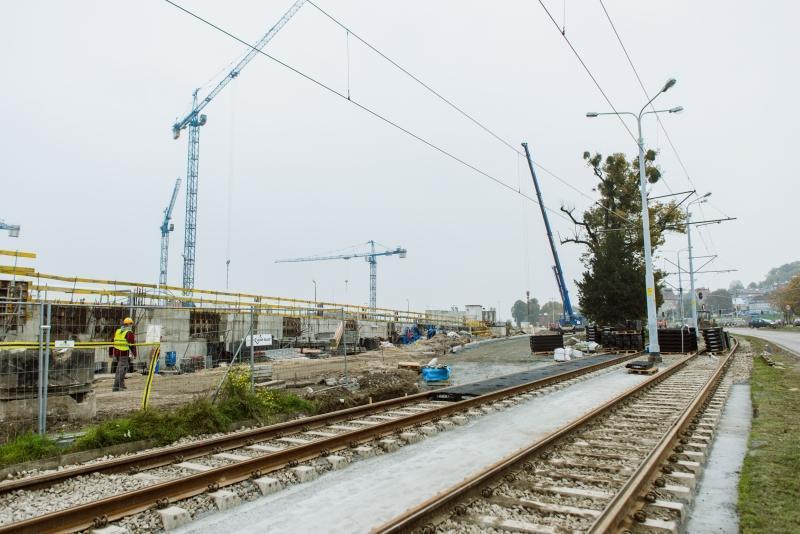 Linia tramwajowa przy ul. 3 Maja