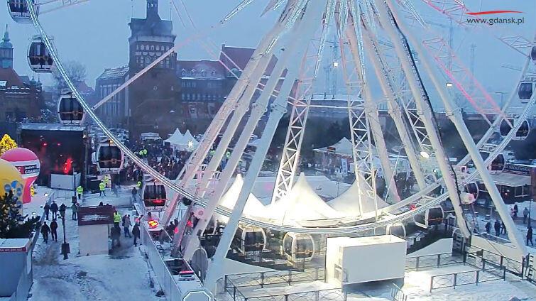 Widok z kamery miejskiej na Targu Węglowym
