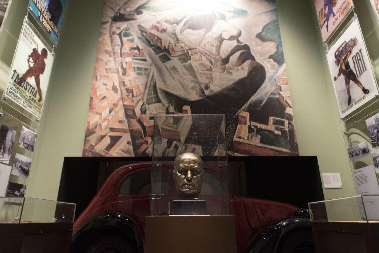 Sala poświęcona włoskiemu faszyzmowi i Mussoliniemu