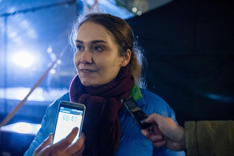 Małgorzata Ciepłuch, doktorantka prawa UG, udziela wywiadu