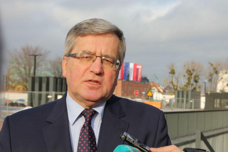 Komorowski w Gdańsku: - Mam nadzieję, że dobra praktyka uszanowania dzieła poprzedników będzie w MIIWŚ kontynuowana