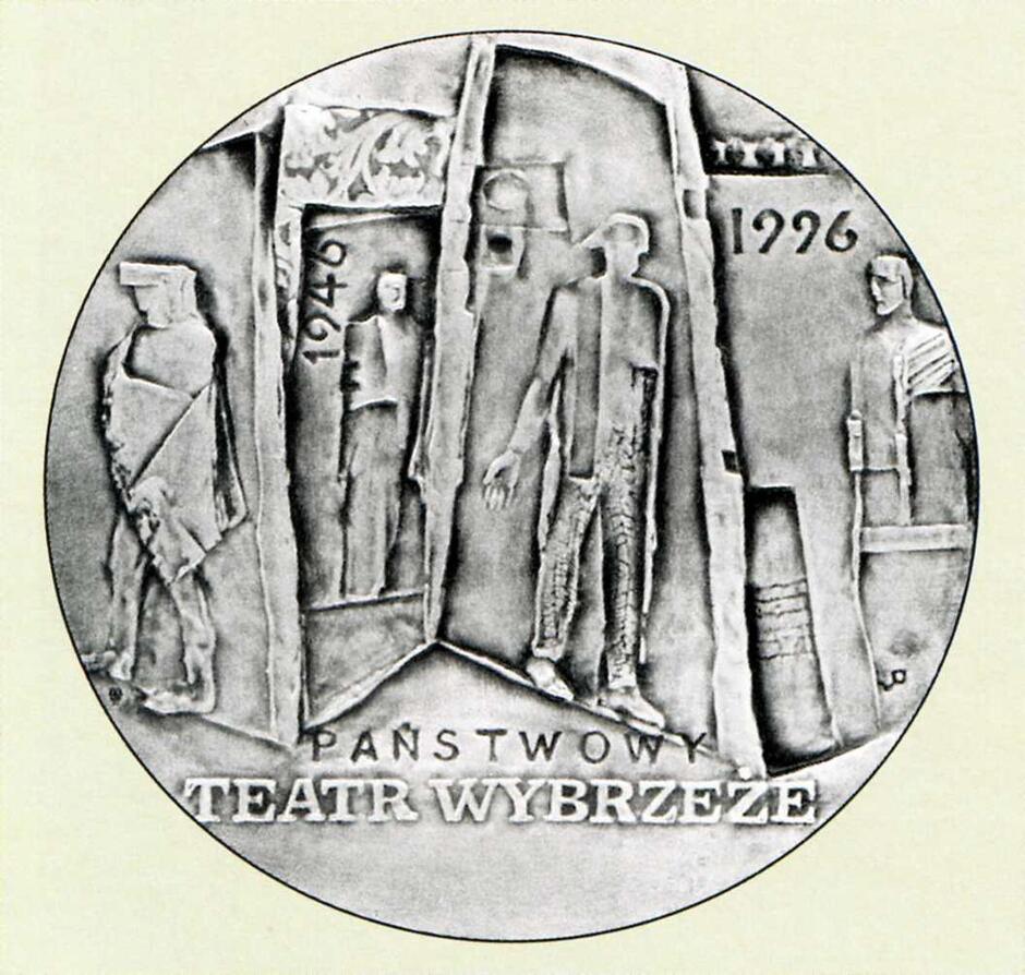 Awres medalu przygotowanego na upamiętnienie pięćdziesięciolecia teatru