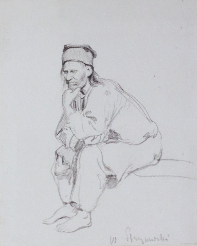 Siedzący flisak, W. Stryowski