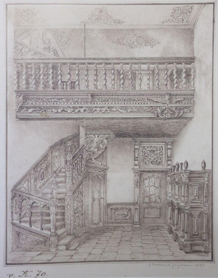Wysoka sień przy ulicy Mariackiej, G. Ferdinand Gregorovius, 1843
