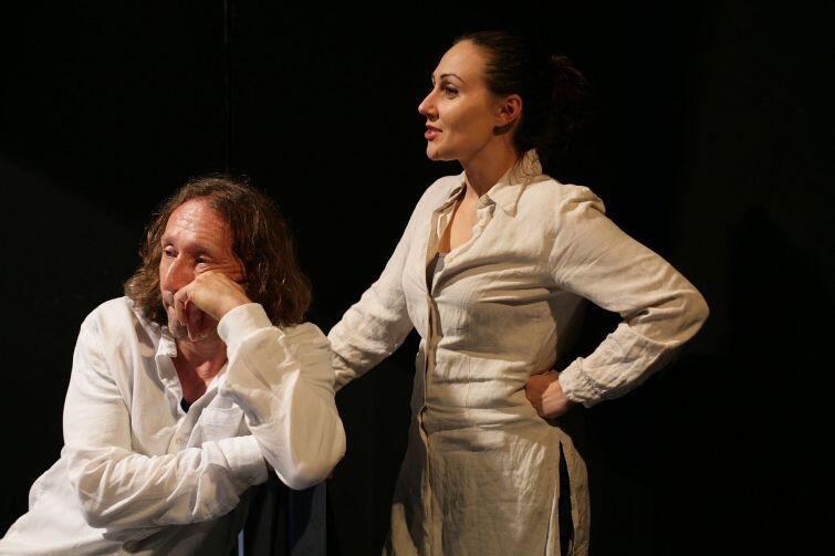 Jacek Majok i Magdalena Żulińska w spektaklu Boże mój
