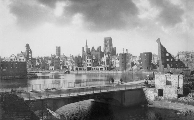 Śródmieście Gdańska zostało zniszczone w 90 procentach