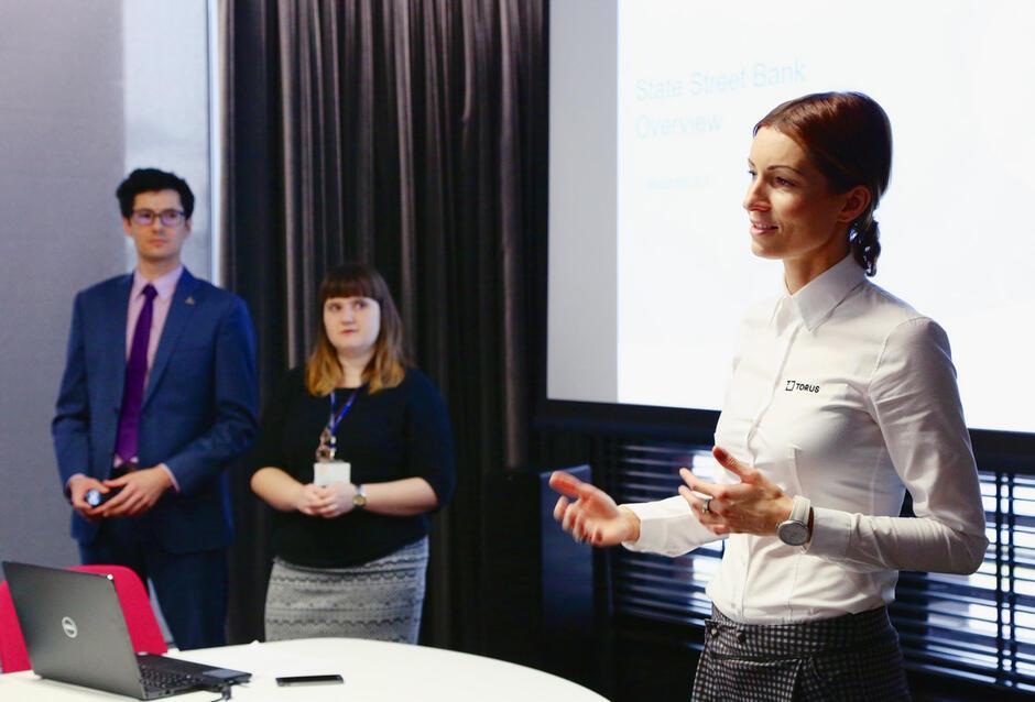 Spotkanie studentów Uniwersytetu Gdańskiego z firmą TORUS