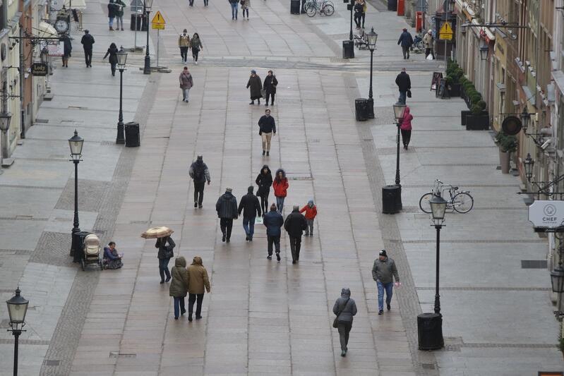 Gdańska Droga Królewska w deszczu, 17 marca 2017 r.