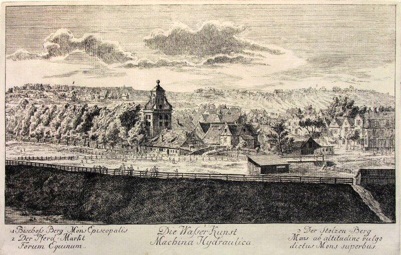 Kunszt wodny, rycina z wieku XVIII wieku