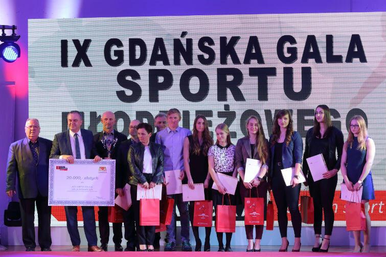 Wyróżnione sekcje sportowe gdańskich klubów otrzymały nagrody w wysokości od 3 do 25 tys. zł