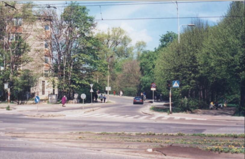 Skrzyżowanie Powstańców Warszawskich z Kartuską i Nowymi Ogrodami, 1997