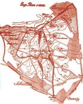 """Plan linii tramwajowej w dwóch wariantach, """"Danziger Zeitung"""" z 2 XI 1919"""