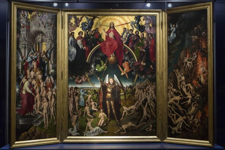 Sąd Ostateczny namalowany przez Hansa Memlinga - jedno ze 100 arcydzieł światowego malarstwa w sztuce dawnej. Pośrodku stoi Michał Archanioł, którego wizerunek wzbudza tak silne emocje Marco Tarandettiego