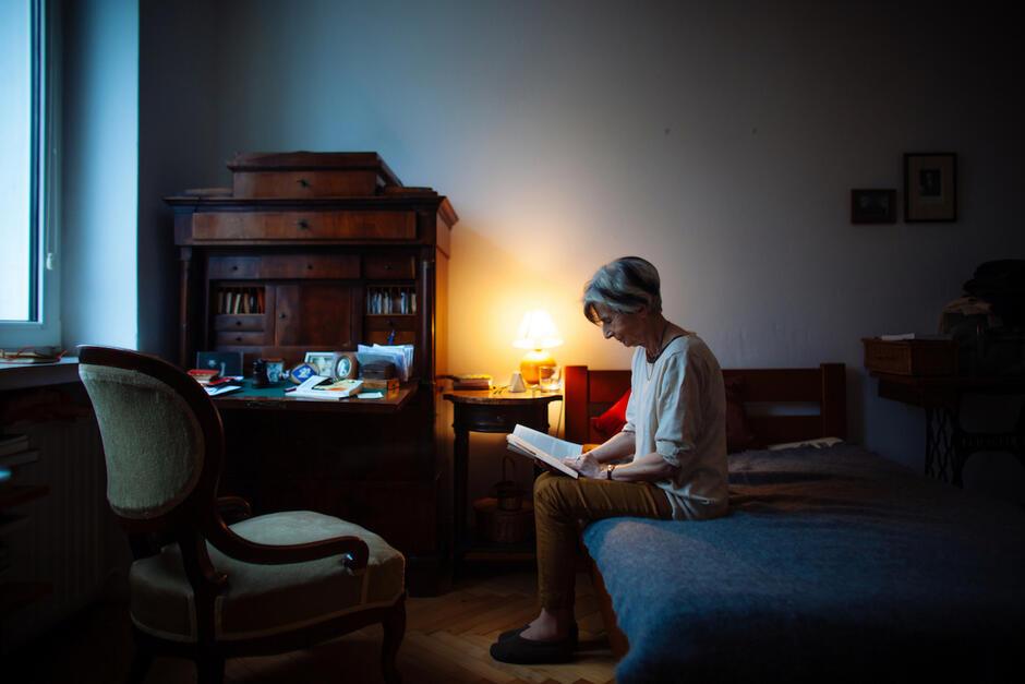 Tłumaczka z języka niemieckiego Małgorzata Łukasiewicz na fotografii Renaty Dąbrowskiej