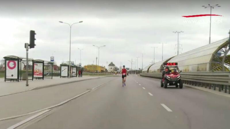 Zwycięzca na 41 kilometrze
