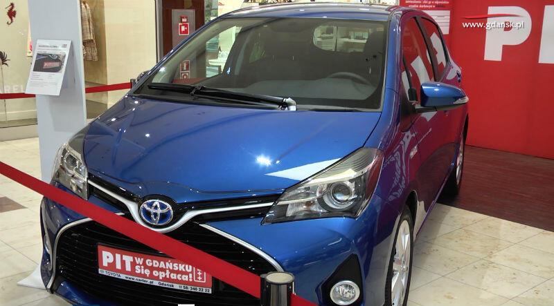 Toyota Yaris - nagroda główna w loterii 'PIT w Gdańsku. Się opłaca'