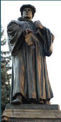 Pomnik Marcina Lutra w Lutherstad Eisleben