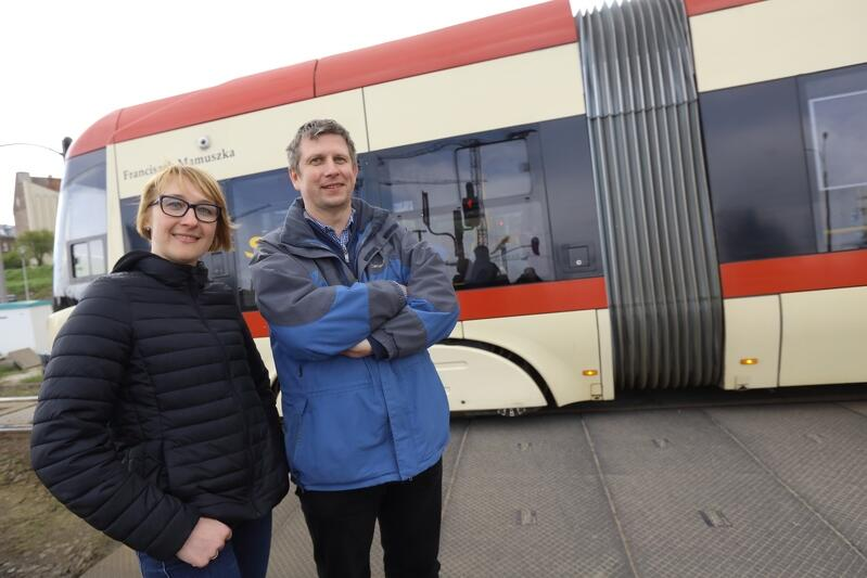 Agnieszka Rzeźnikowska i Marcin Dymarski z Zarządu Transportu Miejskiego w Gdańsku