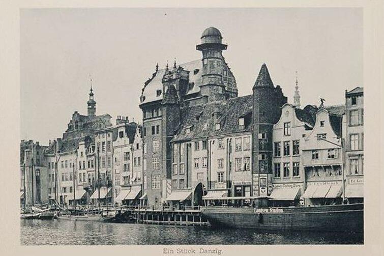 Dawny Gdańsk. Fotografia wykonana w 1894 roku metodą światłodruku