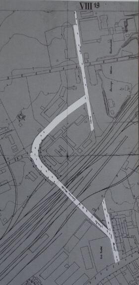 Fragment planu Wrzeszcza z 1926 roku; ulica Lelewela tuż po kolejnym podziale