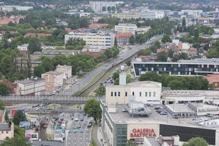 W ciągu najbliższych 30 lat rozwijać ma się tzw. Centralne Pasmo Usług usytuowane wzdłuż al. Grunwaldzkiej