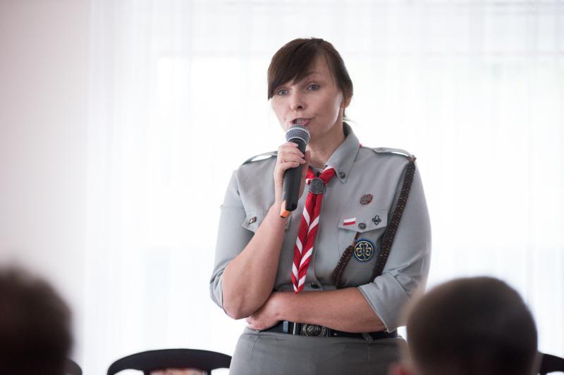 Małgorzata Sinica naczelnik Związku Harcerstwa Polskiego