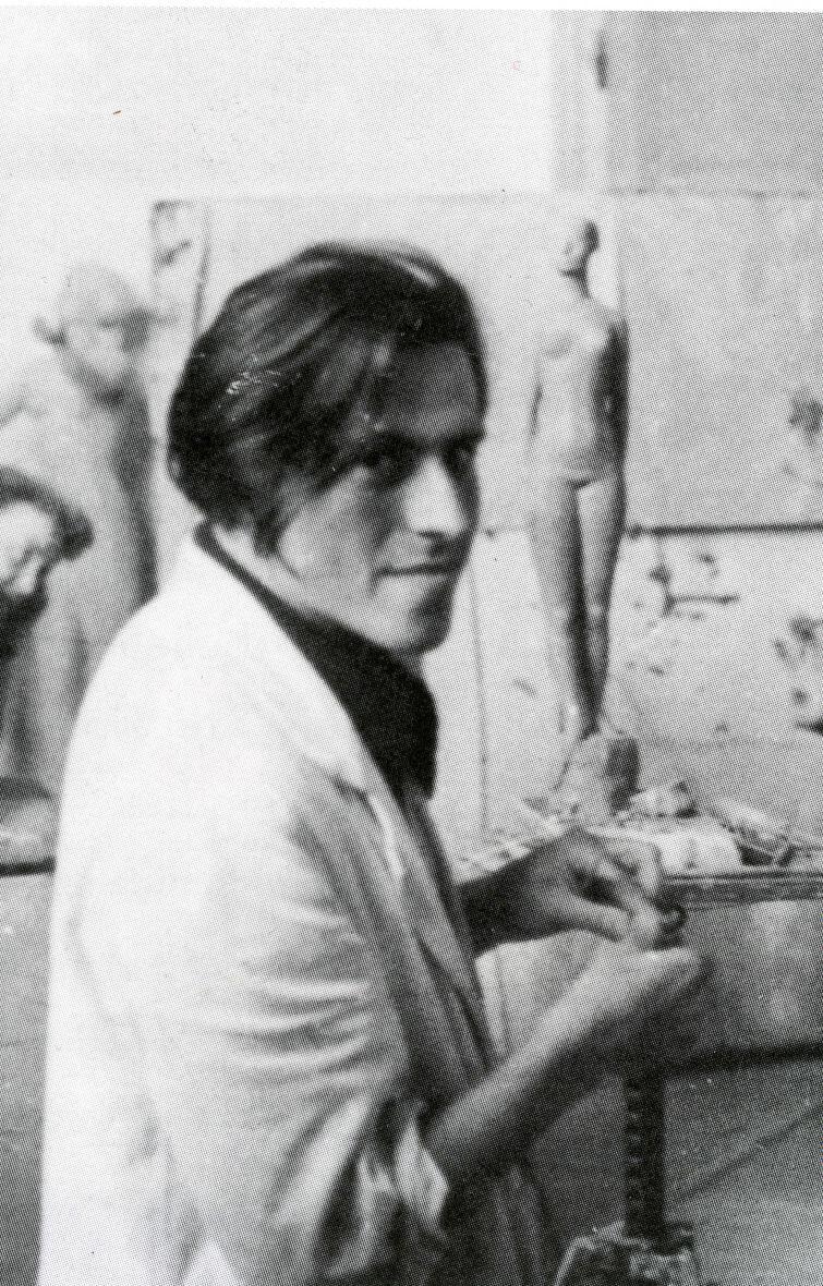 Günter Grass podczas zajęć na Akademii Sztuk Pięknych w Düsseldorfie