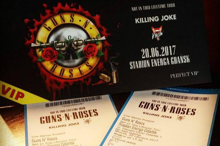 Wejściówki VIP na wtorkowy koncert Guns N' Roses - można je wygrać w ramach konkursu ogłoszonego przez prezydenta Gdańska Pawła Adamowicza