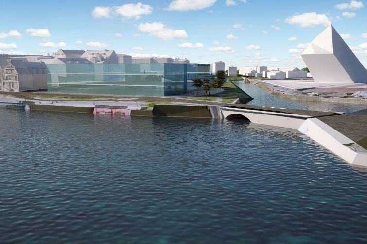 Kolejna wizualizacja: być może przyszłe Muzeum Gdańska zmieści się w tej kubaturze
