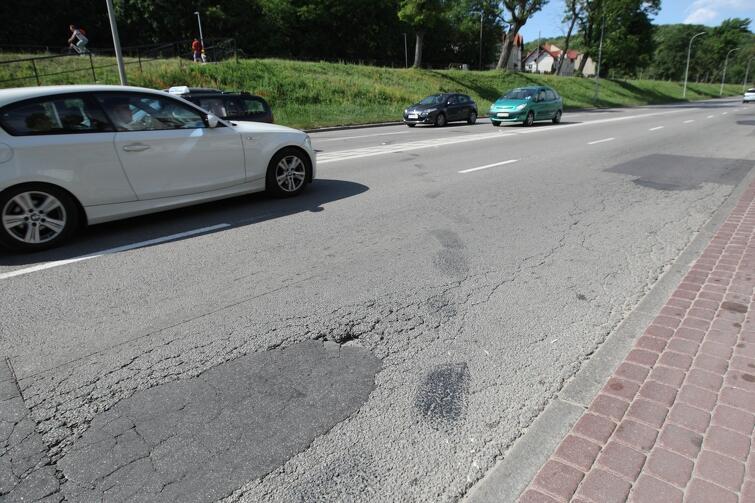 ul. Trakt św. Wojciecha w Gdańsku na odcinku od Zrembu do wiaduktu Biskupia Górka