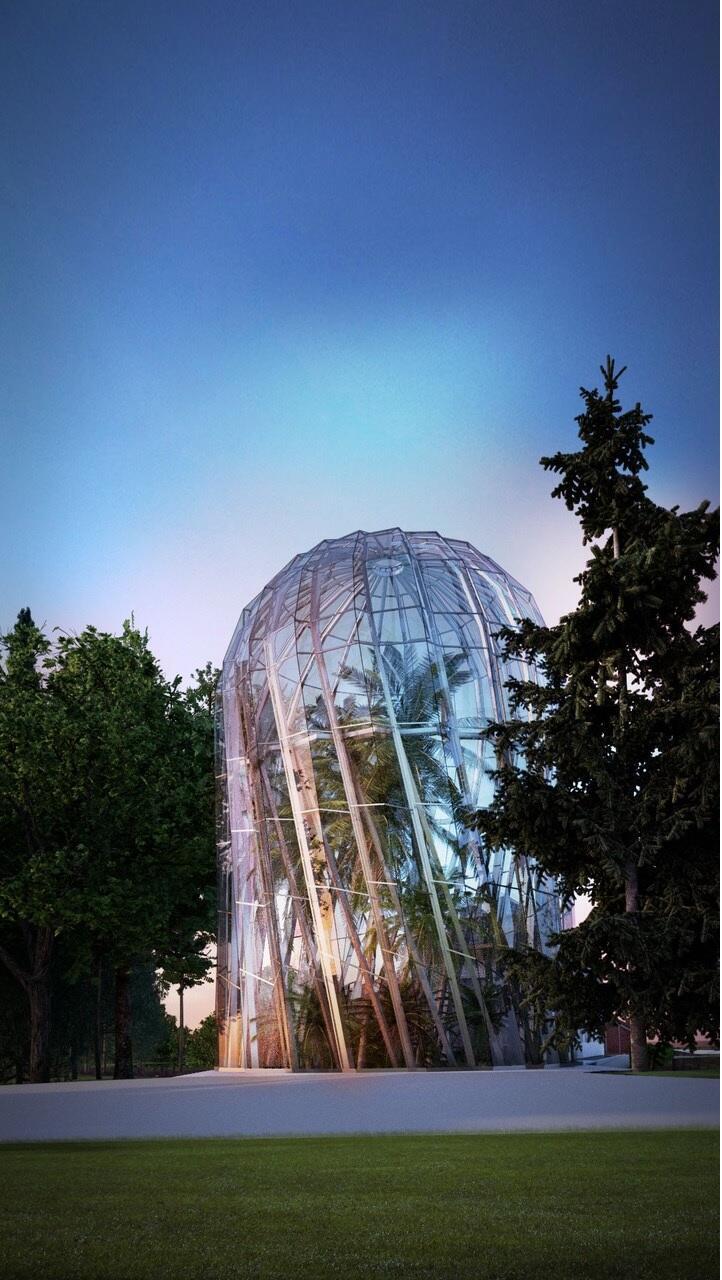 Tak będzie wyglądać nowa szklana rotunda, w której będzie można podziwiać m.in. ponad 180-letnią palmę