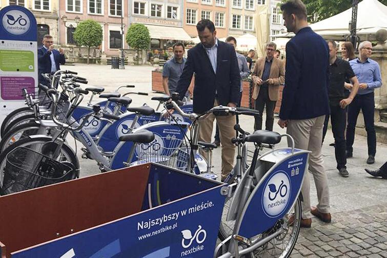 Nextbike podczas spotkania w Gdańsku zaprezentowała kilka modeli jednośladów działających jako rowery publiczne, w tym także w wersji cargo