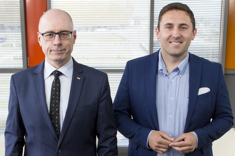 Radni miasta Gdańska, szefowie klubów w RMG: Kazimierz Koralewski i Piotr Borawski (po prawej)