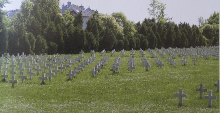 Cmentarz żołnierzy francuskich na zboczu siedleckiego wzgórza