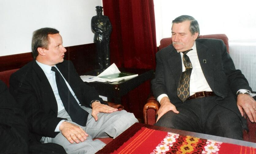 W gabinecie Lecha Wałęsy, wrzesień 1990