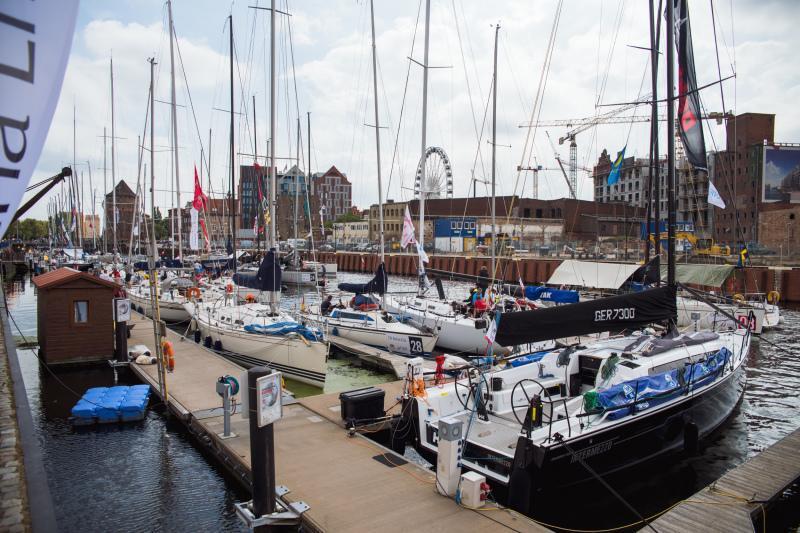 Jachty startujące w mistrzostwach Europy można podziwiać w gdańskiej marinie przy ul. Szafarnia
