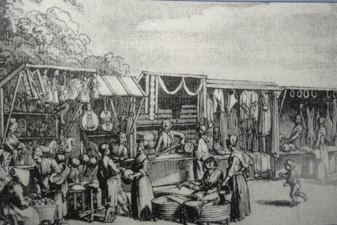 Tak wyglądały stragany w XVIII i XIX wieku