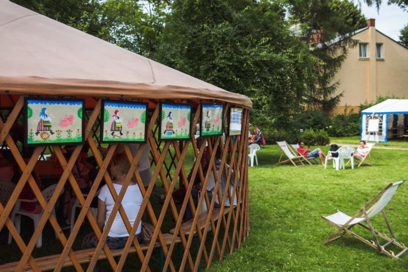 Prawdziwa nomadzka jurta - to także jedna z atrakcji weekendu z MDK na Jasieniu