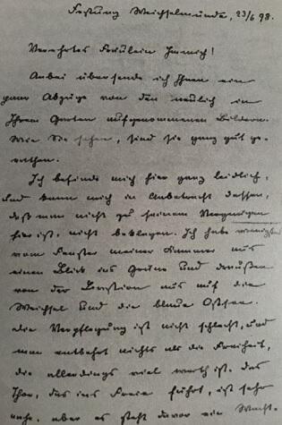 List z 23 czerwca 1898 pisany w twierdzy Wisłoujście