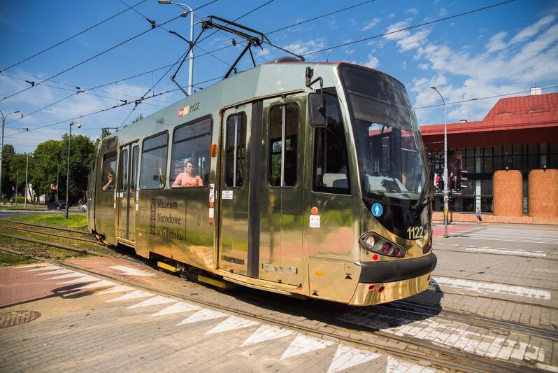 Złoty tramwaj jeździ po Gdańsku - 1 sierpnia na linii nr 3, ale nie obsługuje zawsze tej samej trasy