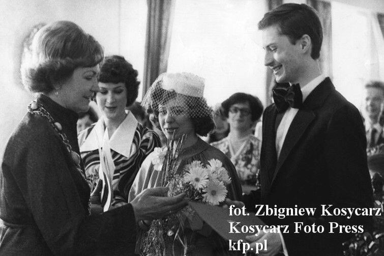 Grażyna i Piotr Wojnowscy powiedzieli sobie tak w Pałacu Ślubów w Gdańsku w 1980 roku