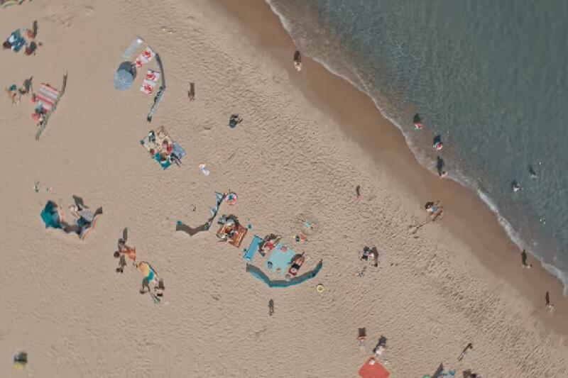 Sobieszewska plaża z wysokości