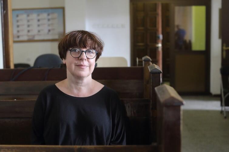 Elżbieta Jachlewska, producentka filmu i wiceprezeska Stowarzyszenia Waga, od lat działającego na rzecz rewitalizacji dzielnicy