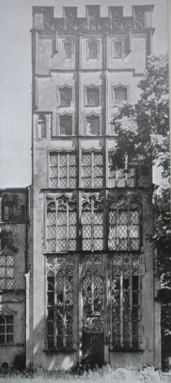 Dom na Pawiej Wyspie z gdańską fasadą, stan sprzed II wojny światowej